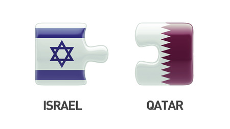 Qatar Israel High Resolution Puzzle Concept photo