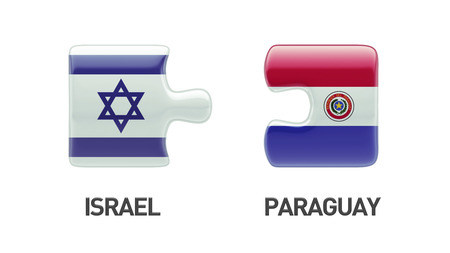 Paraguay Israel High Resolution Puzzle Concept photo
