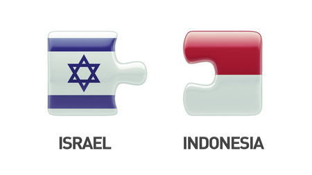 Indonesia Israel High Resolution Puzzle Concept photo