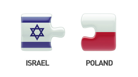 Poland Israel High Resolution Puzzle Concept photo