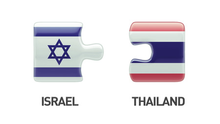 Thailand Israel High Resolution Puzzle Concept photo