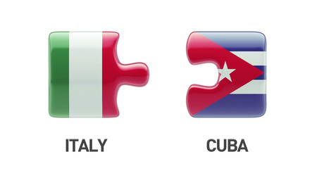 Cuba Italy High Resolution Puzzle Concept Imagens