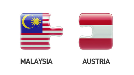 Austria Malaysia High Resolution Puzzle Concept photo