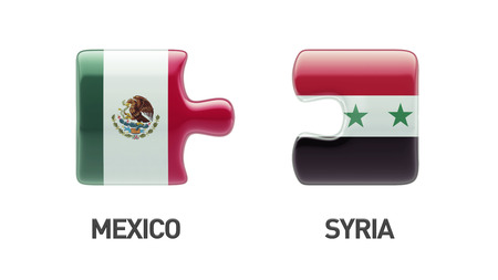 Syria Mexico High Resolution Puzzle Concept photo