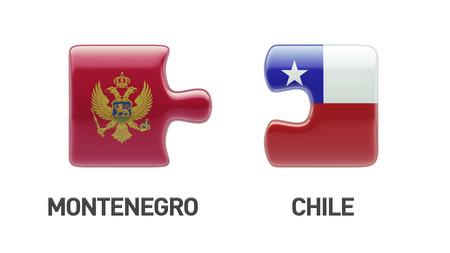 Chile Montenegro High Resolution Puzzle Concept photo