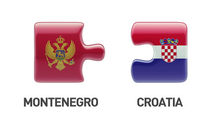 Croatia  Montenegro High Resolution Puzzle Concept