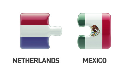 Netherlands Mexico High Resolution Puzzle Concept photo