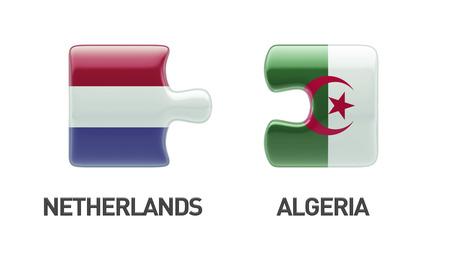 algeria: Algeria Netherlands Puzzle Concept