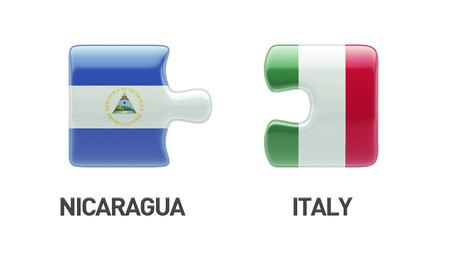 Nicaragua Italy High Resolution Puzzle Concept photo