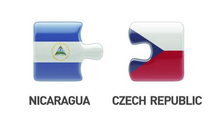 Czech Republic Nicaragua High Resolution Puzzle Concept photo