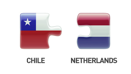 chilean flag: Chile Netherlands High Resolution Puzzle Concept