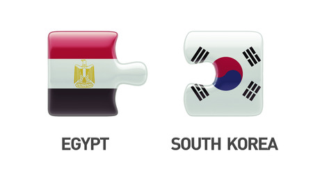 Egypt South Korea Countries High Resolution Puzzle Concept photo