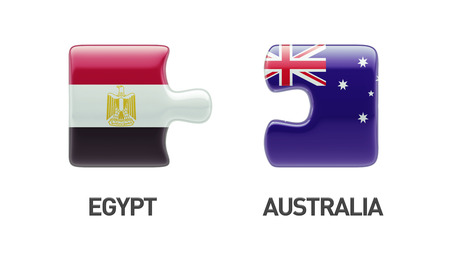 Australia Egypt High Resolution Puzzle Concept photo