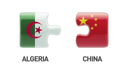 algeria: China Algeria Puzzle Concept