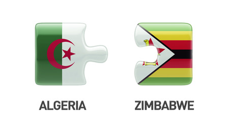 algeria: Zimbabwe Algeria Puzzle Concept