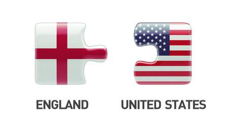 United States England Puzzle Concept photo
