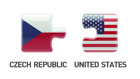 United States Czech Republic High Resolution Puzzle Concept photo