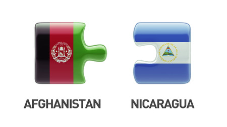 Afghanistan  Nicaragua High Resolution Puzzle Concept photo