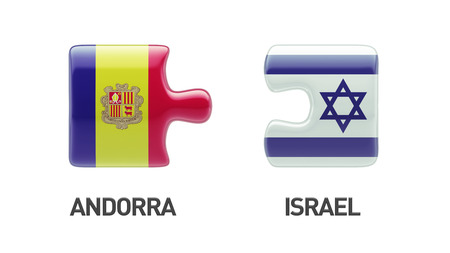 Andorra Israel High Resolution Puzzle Concept photo