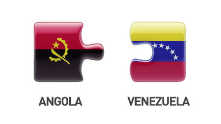 Venezuela Angola High Resolution Puzzle Concept photo