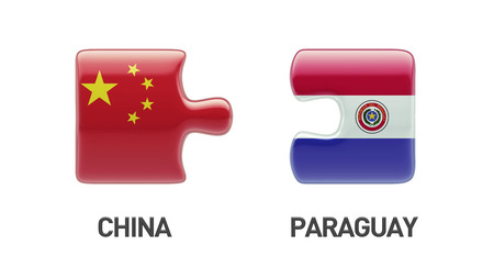 Paraguay China High Resolution Puzzle Concept photo