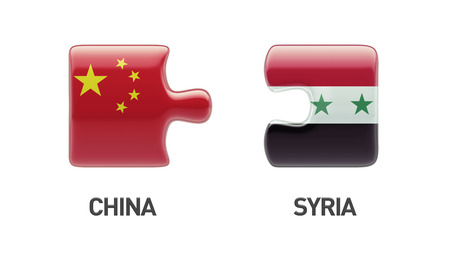 Syria China High Resolution Puzzle Concept photo