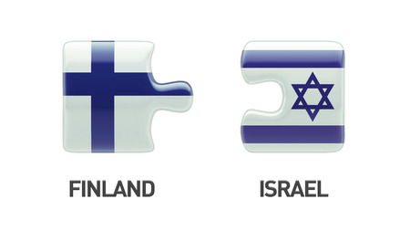 Finland Israel High Resolution Puzzle Concept photo