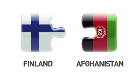 Afghanistan  Finland High Resolution Puzzle Concept photo