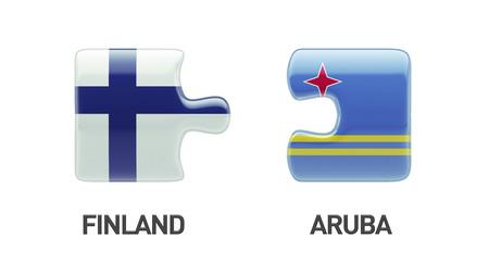 Aruba Finland High Resolution Puzzle Concept photo
