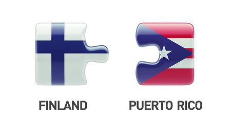 Puerto Rico Finland High Resolution Puzzle Concept photo