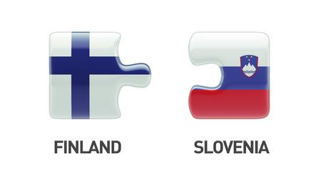 Slovenia Finland High Resolution Puzzle Concept photo