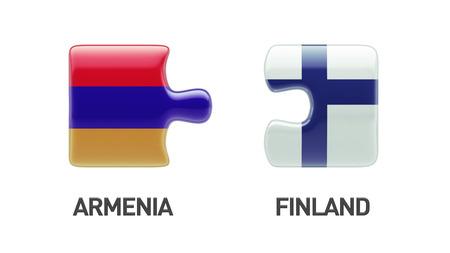 Armenia Finland High Resolution Puzzle Concept photo