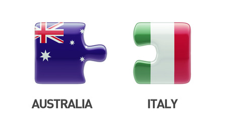 Australia Italy High Resolution Puzzle Concept