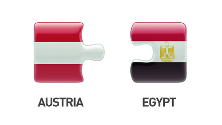 Austria Egypt High Resolution Puzzle Concept photo