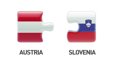 Slovenia Austria High Resolution Puzzle Concept
