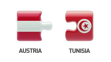 tunisie: Tunisia Austria High Resolution Puzzle Concept