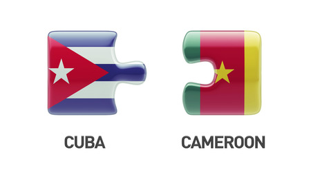 Cuba Cameroon High Resolution Countries Puzzle Concept photo