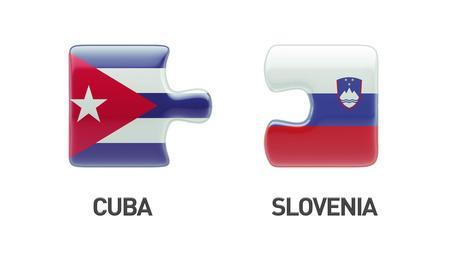 Slovenia Cuba High Resolution Puzzle Concept