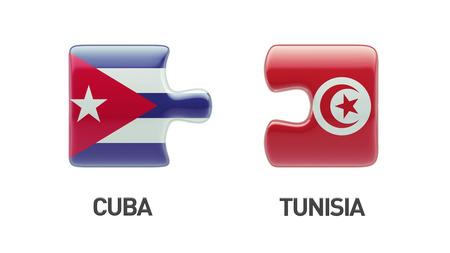 tunisie: Tunisia Cuba High Resolution Puzzle Concept Stock Photo