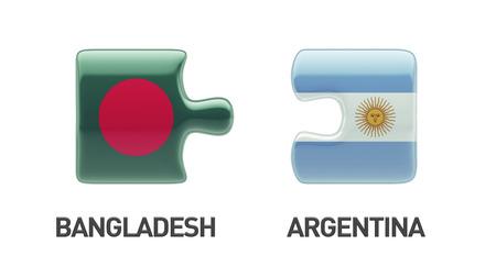 Bangladesh Argentina High Resolution Puzzle Concept photo