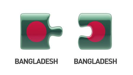 bangladesh 3d: Bangladesh High Resolution Puzzle Concept