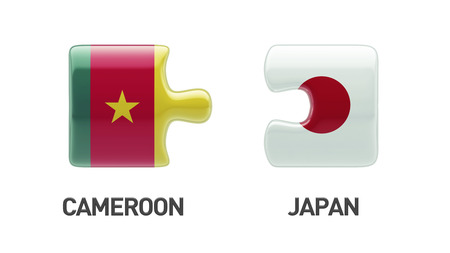 Cameroon Japan High Resolution Countries Puzzle Concept photo