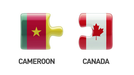 Cameroon Canada High Resolution Countries Puzzle Concept photo
