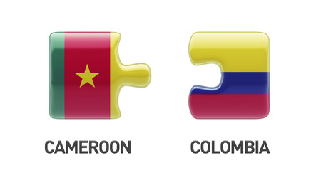 Cameroon Colombia High Resolution Countries Puzzle Concept photo