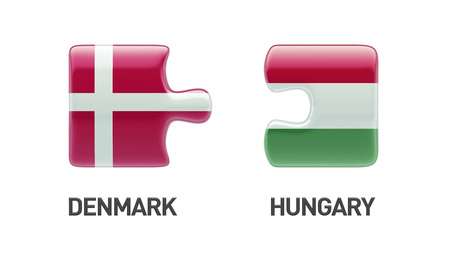Denmark Hungary High Resolution Puzzle Concept photo