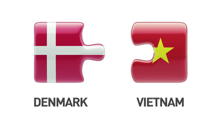 Vietnam Denmark High Resolution Puzzle Concept photo