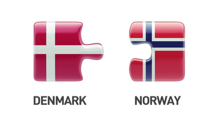 Norway Denmark High Resolution Puzzle Concept photo