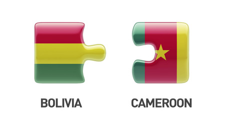 Bolivia Cameroon High Resolution Countries Puzzle Concept photo