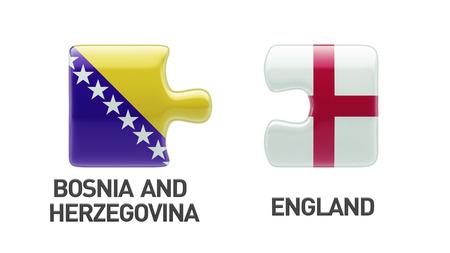 Bosnia and Herzegovina  England High Resolution Puzzle Concept photo
