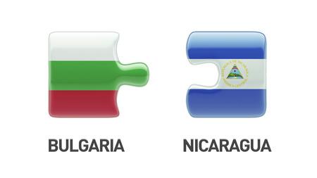 Bulgaria Nicaragua High Resolution Puzzle Concept photo